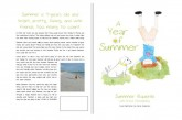 "Interview with the Author of ""A Year of Summer"" Bruce Novozinsky"