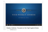 VIDEO President Obama: Focused on the Fight Against Ebola