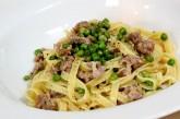 Cooking with Nonna: Fettuccine with Sausage and Mascarpone