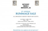 Come out to the Rummage Sale 4/25