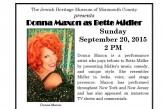JHMOMC presents Donna Maxon as Bette Midler 9/20