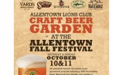 Craft Beer Garden at the Allentown Fall Festival 10/10-10/11