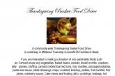 Thanksgiving Basket Food Drive