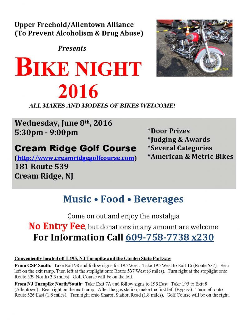 Bike Night 6 8 Sponsored by the Upper Freehold Allentown Alliance