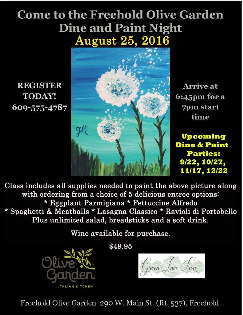 e to the Freehold Olive Garden Dine & Paint Night 8 25