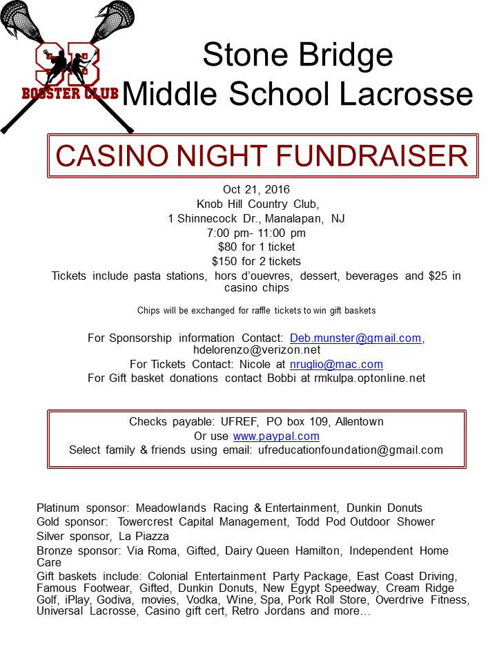 SBMS Lacrosse Casino Night Fundraiser 10/21 | The Source