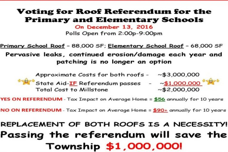 Roof Referendum for Millstone Township's Primary & Elementary ...