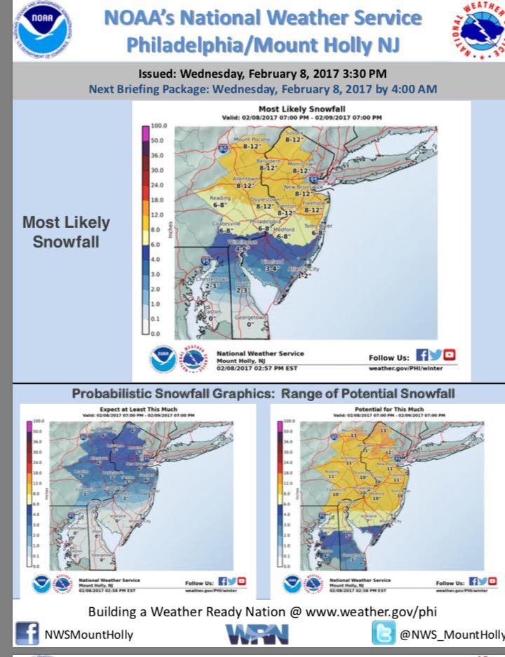 How much snow is predicted The Source