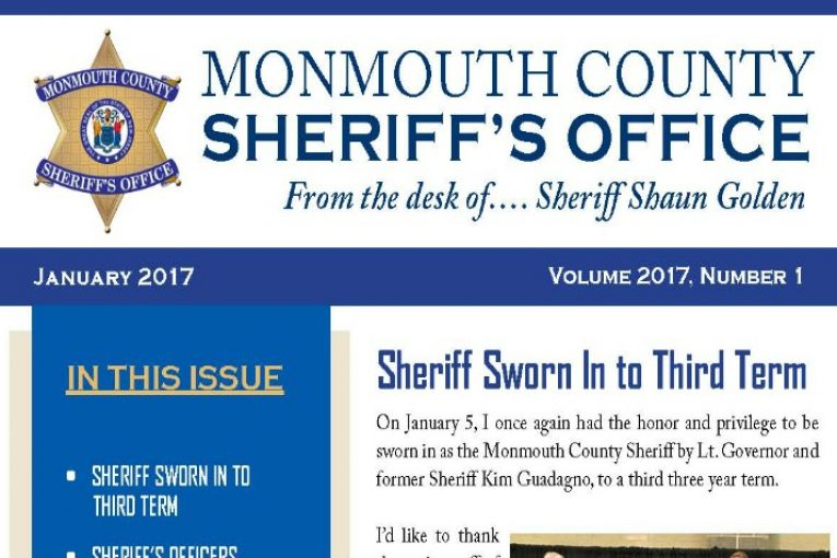 Monmouth County Sheriff'S Office Newsletter January 2017 | The Source